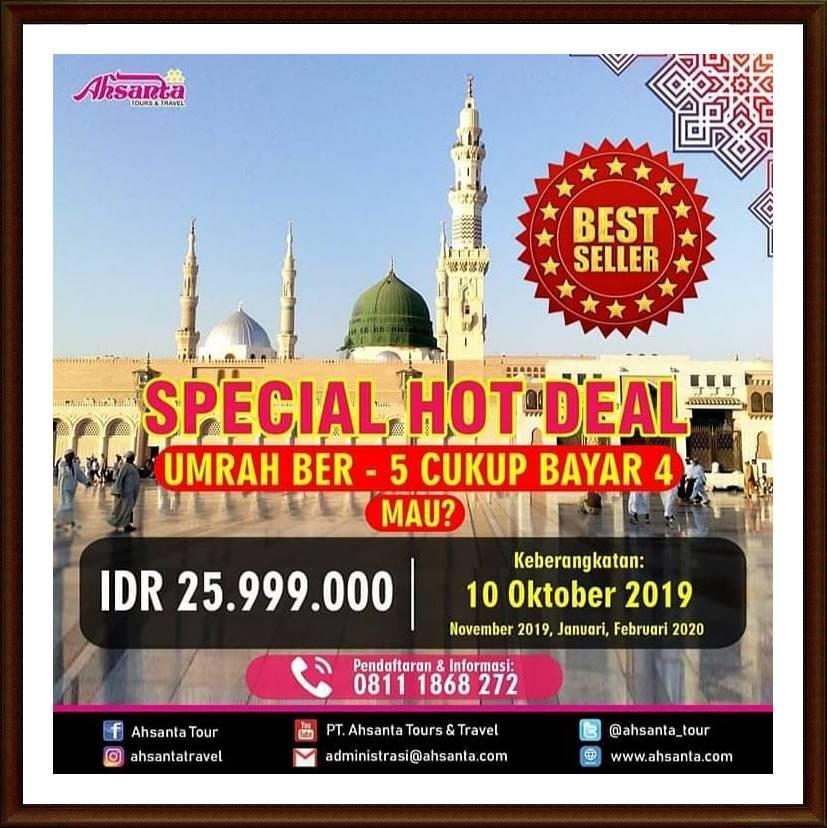 Special Hot Deal Umroh Ahsanta