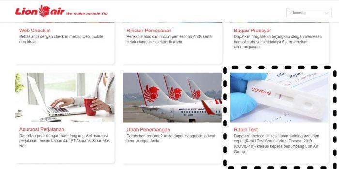 Lion Air rapid test