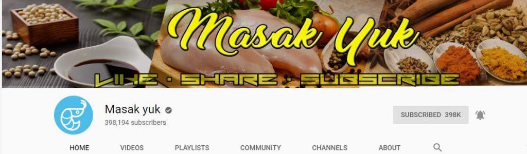 4 Channel Youtube Masak Yuk