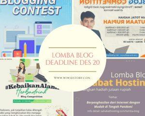 Lomba Blog Deadline Desember