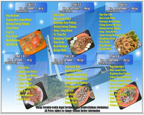 Menu Paket barelang Seafood Restaurant Batam