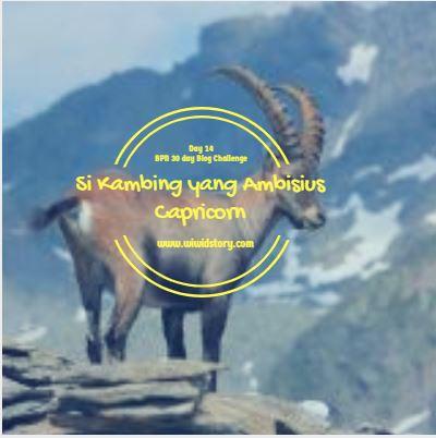 Si Kambing yang Ambisius;Capricorn