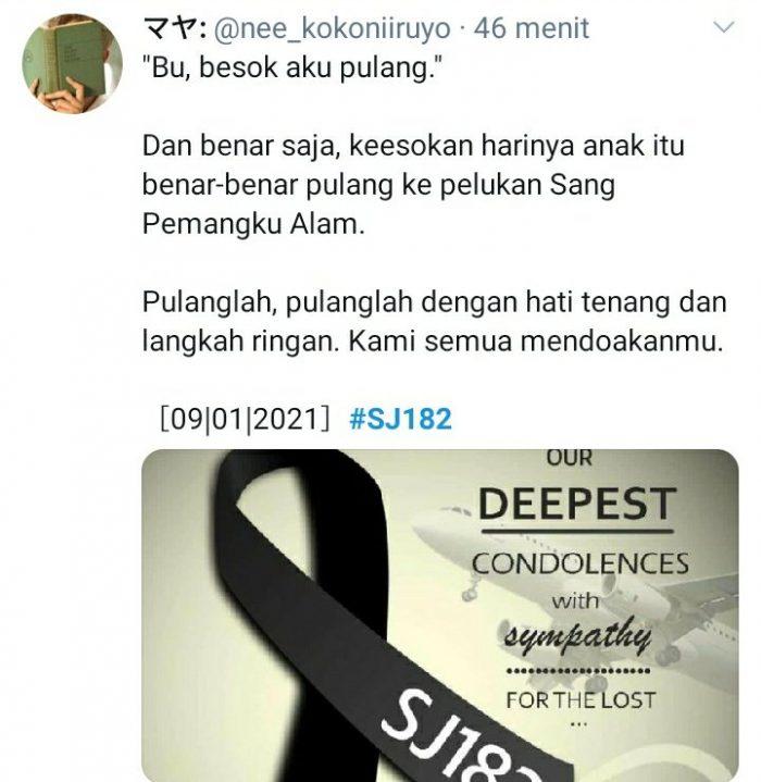 Jatuhnya SJ182 Sriwijaya Air